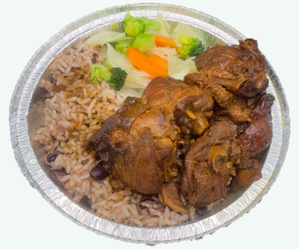 Picture of a Medium Stew Chicken Meal